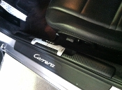Carbon Fiber Finish Door sill cover '97-'00 fits: 996 & 986