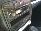 Carbon Fiber Center Dash Covers fits: '03-'10 Porsche Cayenne