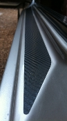 Carbon Fiber Finish Door Sill Accent Pair fits: Porsche 944 968